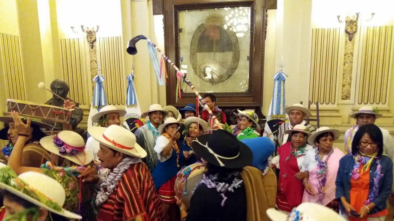 Jujuy: El tradicional jueves de Comadres se hizo sentir en Casa de Gobierno