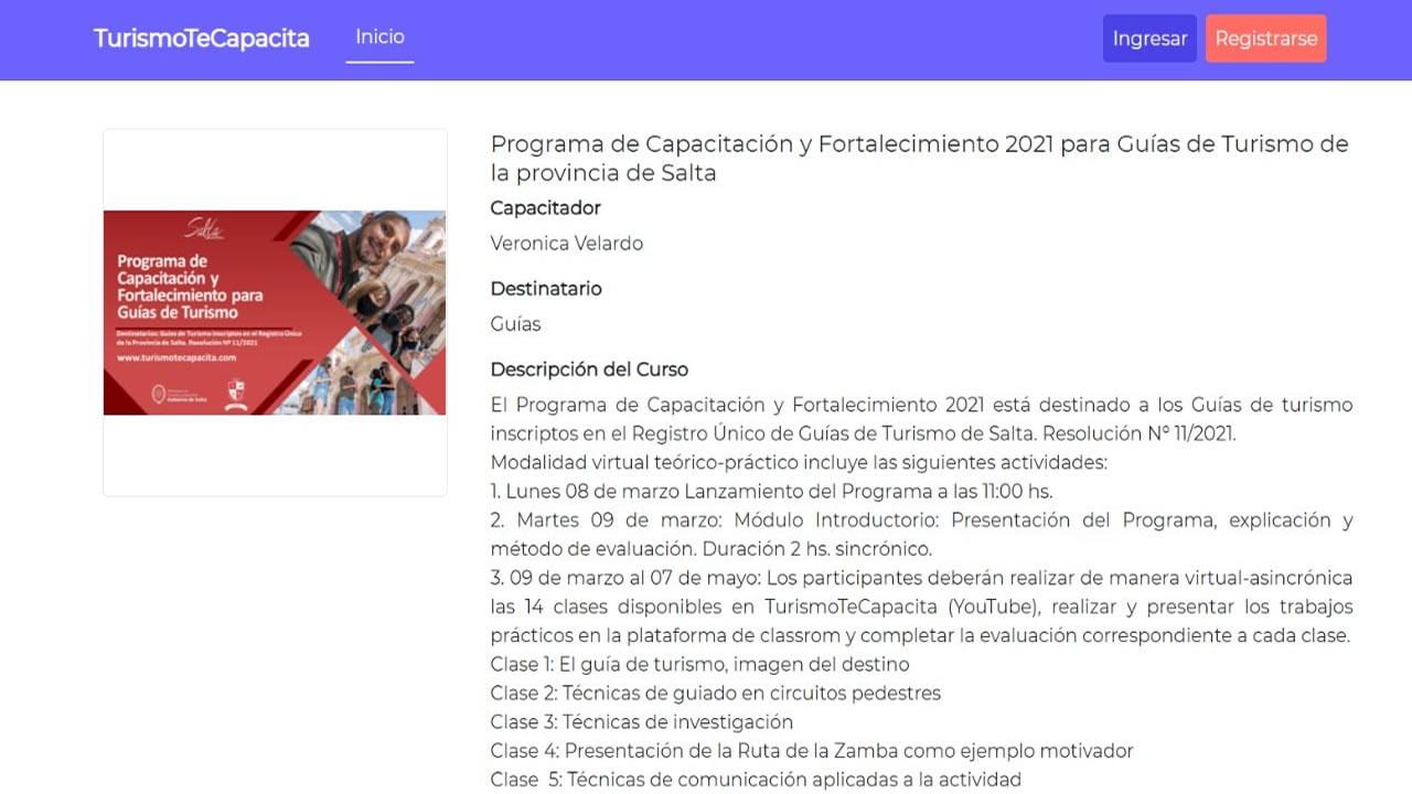 Salta: Prestadores Turísticos y emprendedores participarán de diversos cursos
