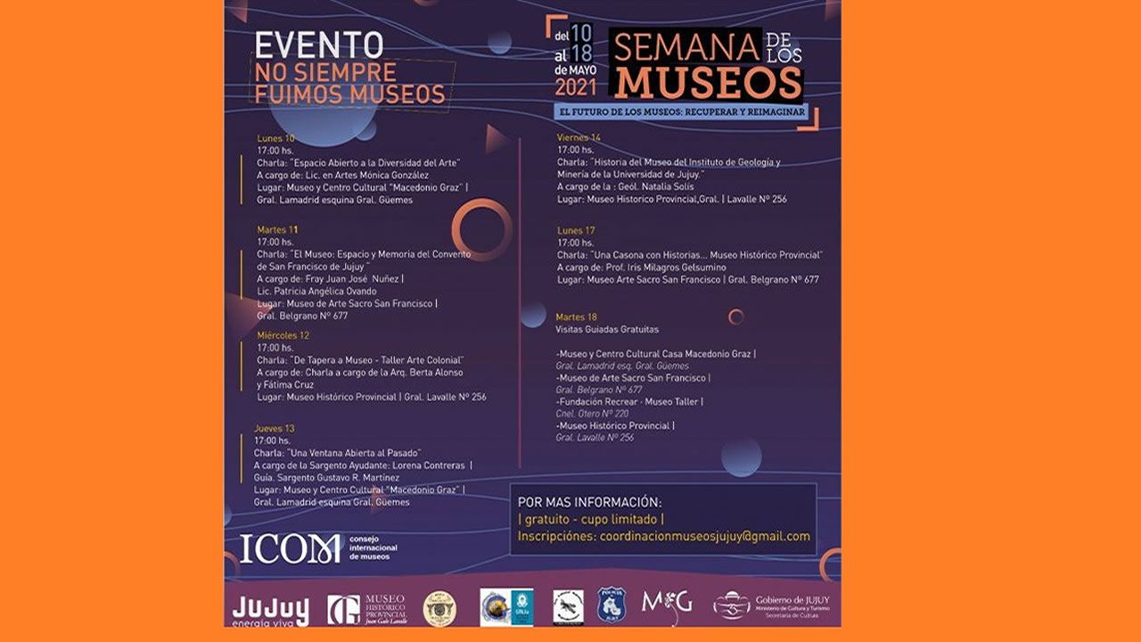 Jujuy: Se viene la Semana de los Museos