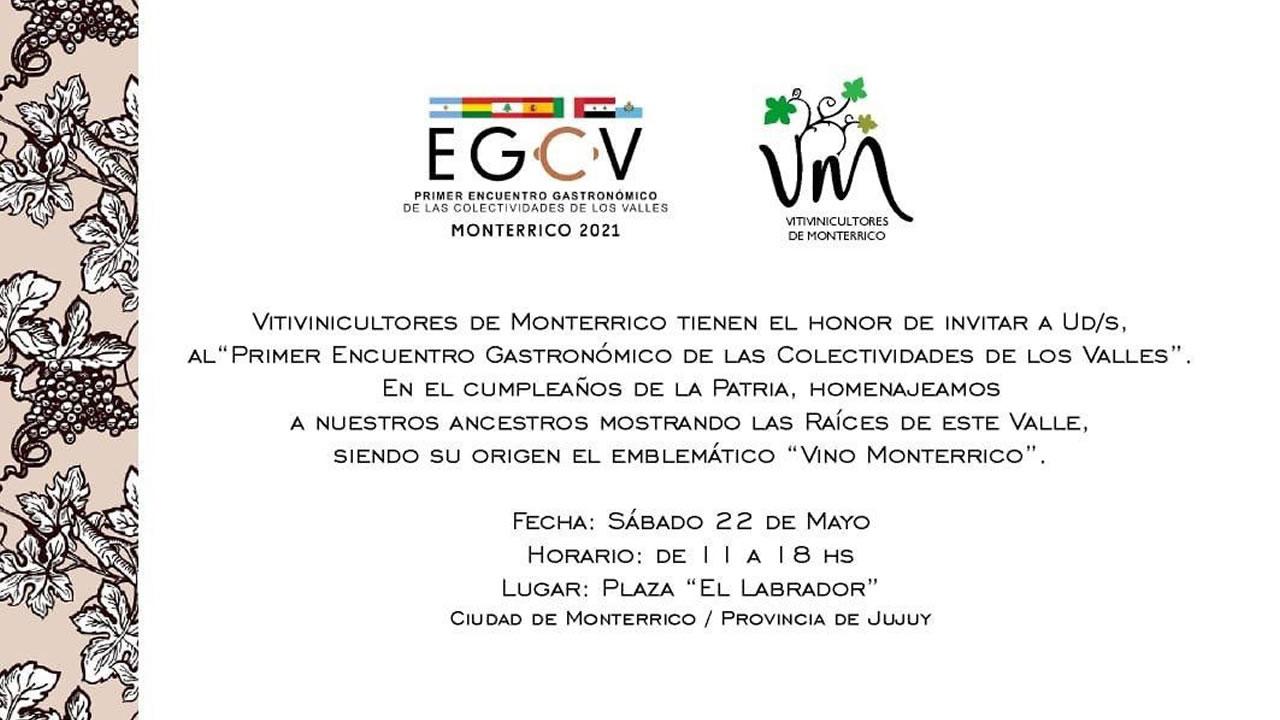 Jujuy: Primer Encuentro Gastronómico de Colectividades de los Valles