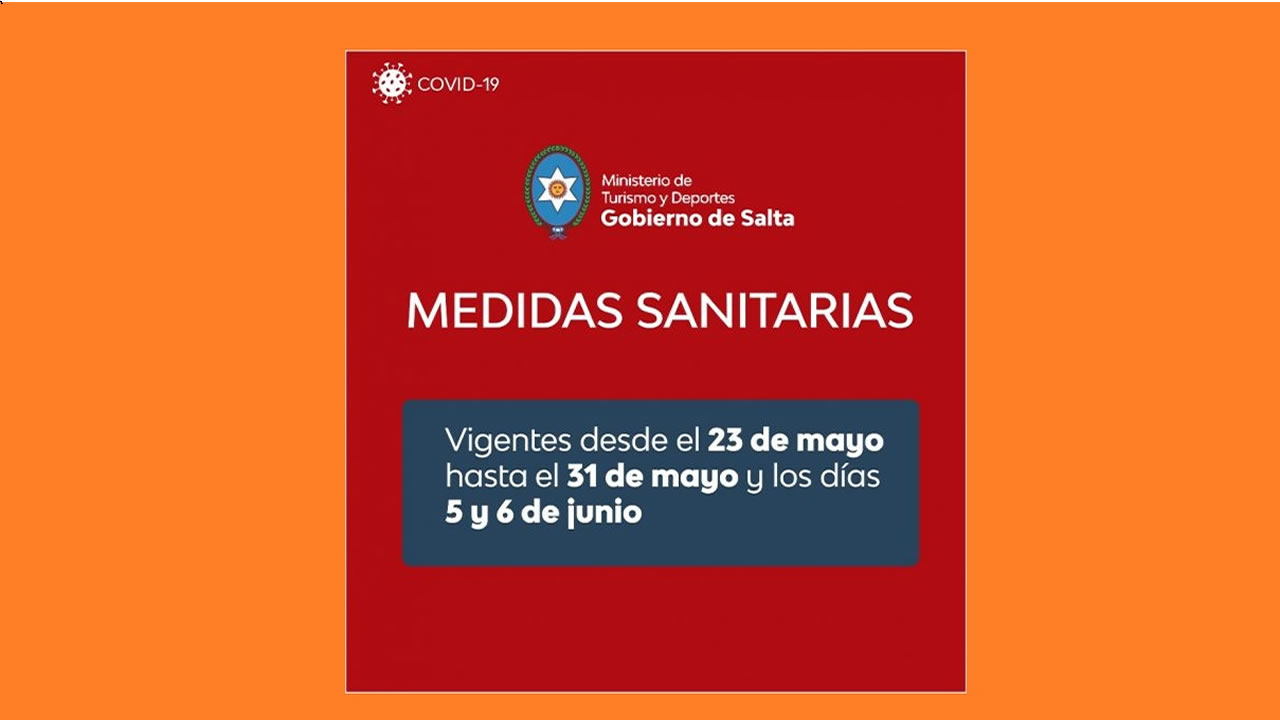 Salta: Medidas sanitarias para el sector turístico y deportivo